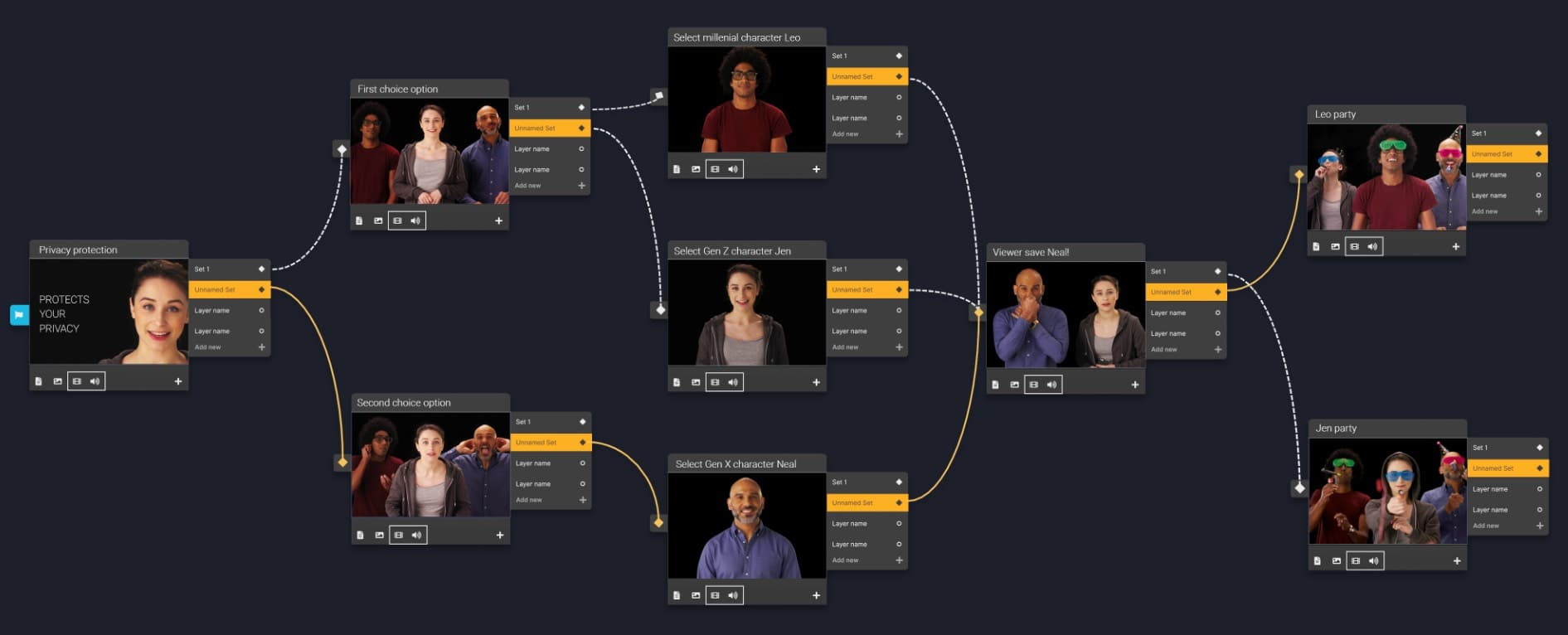 MorphCast Studio Branching Videos